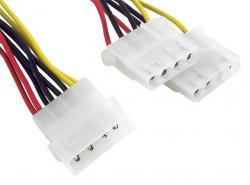 Kabel rozdzielacz zasilania 1xMOLEX/2xMOLEX