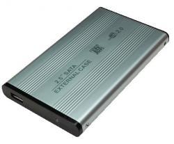 Obudowa aluminiowa do HDD 2,5' SATA, USB, srebrna