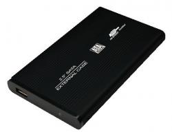 Obudowa aluminiowa do HDD 2,5'SATA,USB,czarna