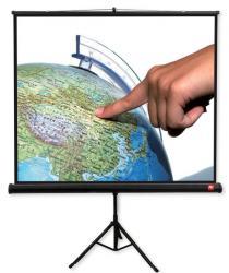 Ekran na statywie Tripod PRO 180, 1:1, 180x180cm, Matt White, czarne ramki