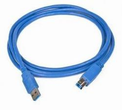 Kabel USB 3.0 typu AB AM-BM 1,8 niebieski