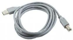 Kabel USB 2.0 typu AB AM-BM 1.8m szary