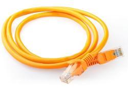 Patch cord kategoria 5e osłonka zalewana 0.5m pomarańczowy