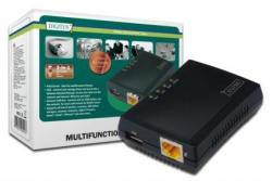 Wielofunkcyjny serwer wydruku/Print server 1xUSB 2.0 Hub sieciowy, NAS, 1x RJ45, LAN 10/100Mbps