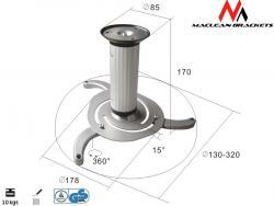 Maclean Uchwyt sufitowy do projektora Maclean MC-515 S 80-170mm 10kg