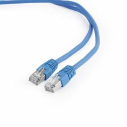 Kabel Patch cord ekranowany FTP kat.6 osłonka zalewana 0.5M niebieski