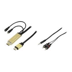 Kabel konwerter HDMI do sygnału analogowego audio