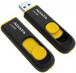 Pendrive DashDrive UV128 64GB USB 3.2 Gen1 czarno - żółty