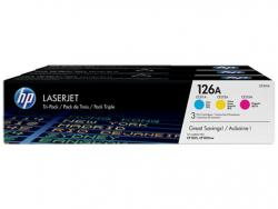 Toner 126A CP1025 3-Pack CMY CF341A