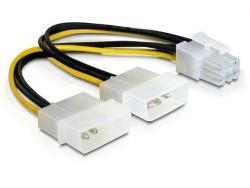 Kabel rozdzielacz zasilania 2xHDD/1xPCI Express 6Pin