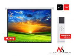 Ekran projekcyjny elektryczny MC-552 150 cali 300x220 4:3 ściana lub sufit