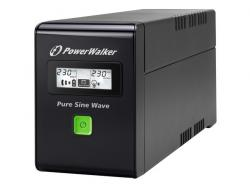 UPS LINE-INTERACTIVE 600VA 2X PL 230V, PURE SINE WAVE, RJ11/45 IN/OUT, USB, LCD