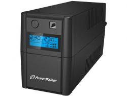 UPS LINE-INTERACTIVE 650VA 2X 230V PL OUT, RJ11 IN/OUT, USB, LCD