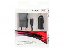 Ładowarka +sam.USB 2,1A+kabel microUSB