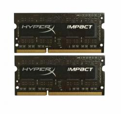 DDR3 SODIMM HyperX IMPACT BLACK 8GB/1866 (2*4GB) CL11 Low Voltage