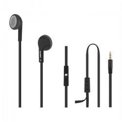 Słuchawki douszne + mikrofon, czarne