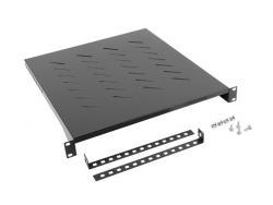 Półka do szaf 19 800mm 1U 483x500mm czarna