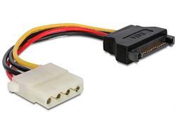 Kabel SATA zasilający(M)->Molex(M) 15cm