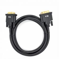 Kabel DVI M-M 24+1 1.8 m. czarny, pozłacany