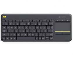 K400 Plus Wireless Touch Keyboard Czarna