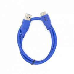 Kabel USB 3.0-Micro 0,5 m. niebieski