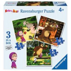 Ravensburger 3W1 Masza i Niedźwiedź