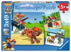 Ravensburger Puzzle 3x49 elementów - Zespół na 4 łapach