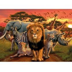 Ravensburger RAVEN. 500 EL. Afrykańskie Zwierzęta