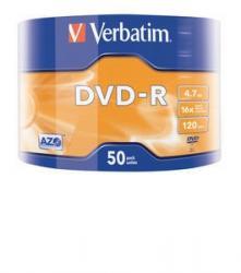 DVD-R 16x 4.7GB 50P SP Matt Silver Wrap 43788