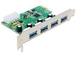Delock Karta PCI Express -> USB 3.0 4-port NEC