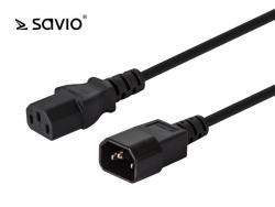 SAVIO CL-99 Przedłużacz kabla zasilającego C13/C14; 1,2m