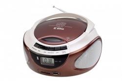 Radioodtwarzacz LILA CD-98/USB brązowy