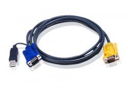 Kabel KVM USB z SPHD 3w1 2L-5202UP
