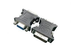 Adapter DVI->VGA (24M/15F) czarny