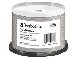 Verbatim DVD-R 16x 4.7GB 50P CB Printable AZO DL+ NO ID