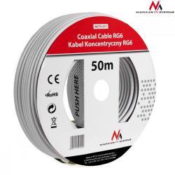 Kabel przewód koncentryczny satelitarny 1.0CCS RG6 50M MCTV-571