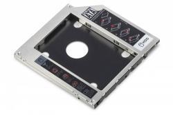 Ramka montażowa SSD/HDD do napędu CD/DVD/Blu-ray, SATA na SATA III, 9.5mm