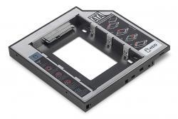 Ramka montażowa SSD/HDD do napędu CD/DVD/Blu-ray, SATA na SATA III, 12.7mm