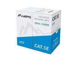 Kabel UTP Kat.5E CCA 305 m drut szary