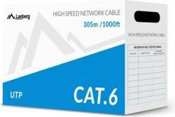 Kabel UTP Kat.6 CCA 305 m drut szary