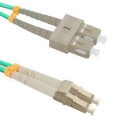 Patchcord światłowodowy LC/UPC-SC/UPC | MultiMode | 50/125 | OM4 | 1m