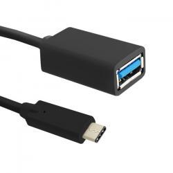 Kabel USB 3.1 typ C męski | USB 3.0 A żeński | 0.25m