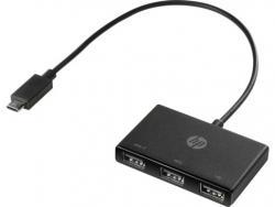 HP Inc. USB-C to 3 USB-A Hub Z6A00AA