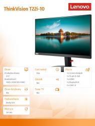 Lenovo Monitor 21.5 ThinkVision T22i-10 Wide FHD IPS type 61A9MAT1EU