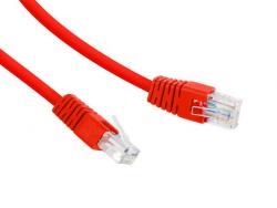 Patch cord Kat.6 UTP 0.5m czerwony