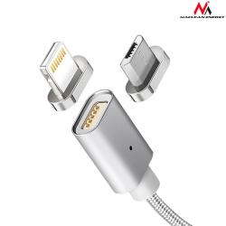 Kabel lightning USB magnetyczny silver MCE161- Quick & Fast Charge