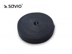 SAVORG-OC-02/B Organizer na kable, Taśma, Rzep, 3m x 20mm - czarny