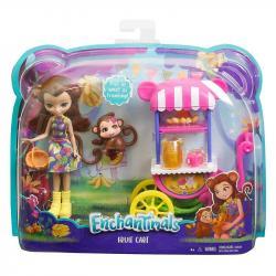 Mattel ENCHANTIMALS Lalka + Wózek z owocami
