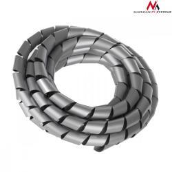 Osłona maskująca na kable MCTV-687S (20.4*22mm) 3m srebna spirala
