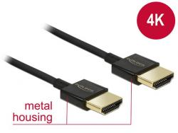Kabel HDMI-HDMI High Speed Ethernet 4K 3D Slim 4.5m czarny